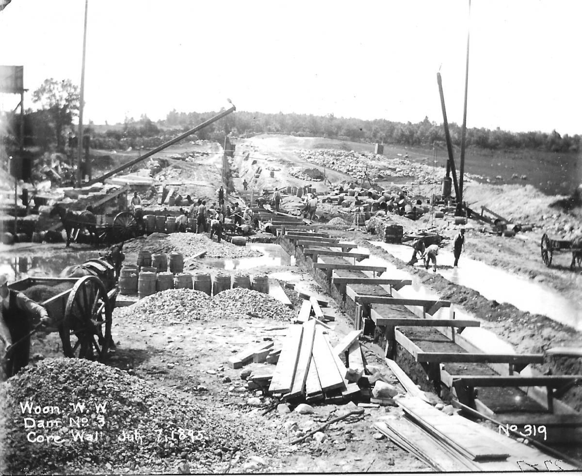 July 7, 1895 - Core Wall