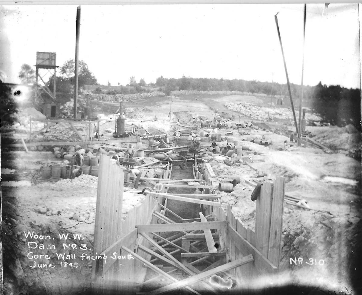 June 1895 - Core Wall Facing South